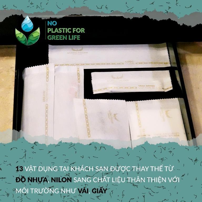 Chiến dịch 'Nói không với đồ nhựa' của Mường Thanh - ảnh 1