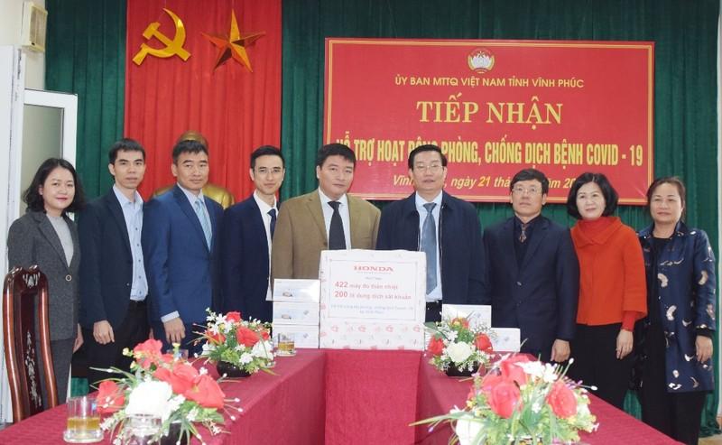 Honda Việt Nam: chung tay đẩy lùi COVID-19 tại Vĩnh Phúc - ảnh 1
