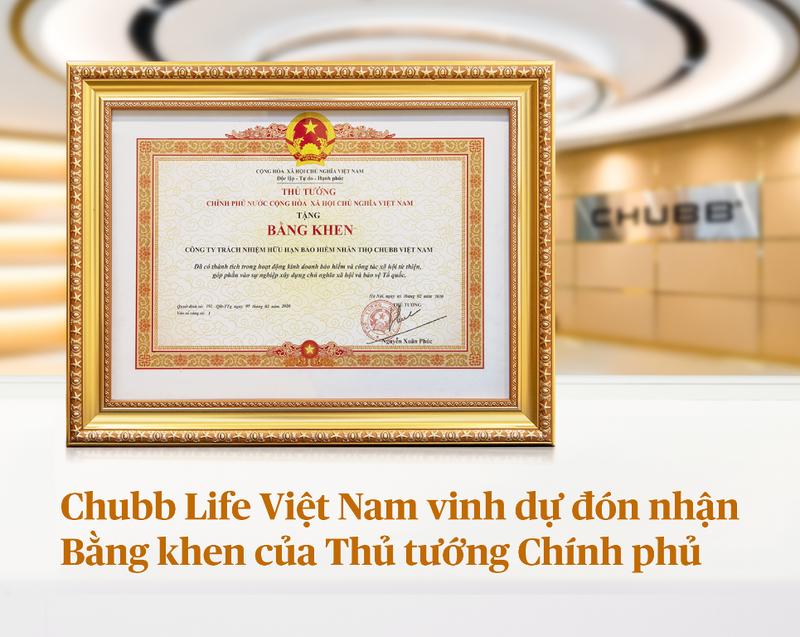 Chubb Life Việt Nam đón nhận bằng khen của Thủ tướng - ảnh 1
