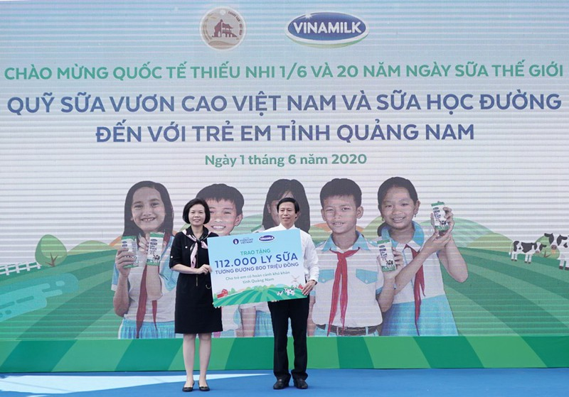 Vinamilk: mang niềm vui uống sữa cho 34.000 trẻ em Quảng Nam - ảnh 2