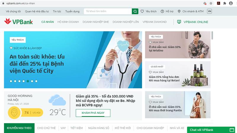 VPBank ra mắt website mới tích hợp trí tuệ nhân tạo - ảnh 1