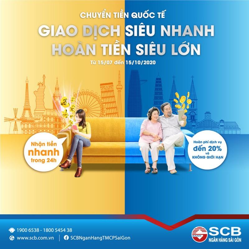 """""""Chuyển tiền siêu nhanh – hoàn tiền siêu lớn"""" cùng SCB - ảnh 1"""