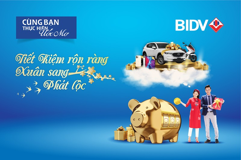 Cơ hội trúng nhiều giải thưởng giá trị khi gửi tiền ở BIDV - ảnh 1