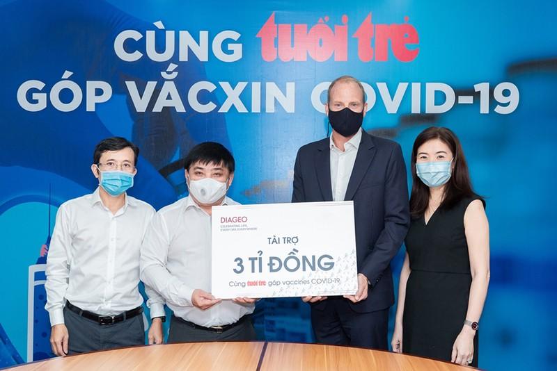 Diageo Việt Nam tài trợ 3 tỷ đồng mua vắc-xin COVID-19 - ảnh 1