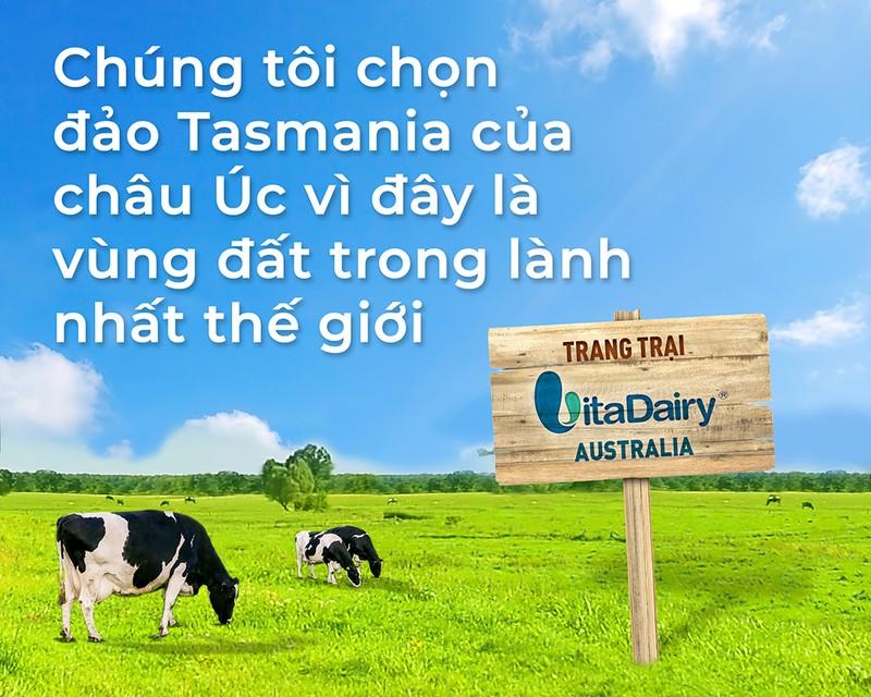 VitaDairy sở hữu trang trại sữa tại đảo Tasmania Australia - ảnh 1