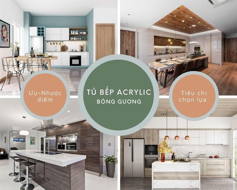 Tủ bếp Acrylic bóng gương và những ưu điểm vượt trội - ảnh 1