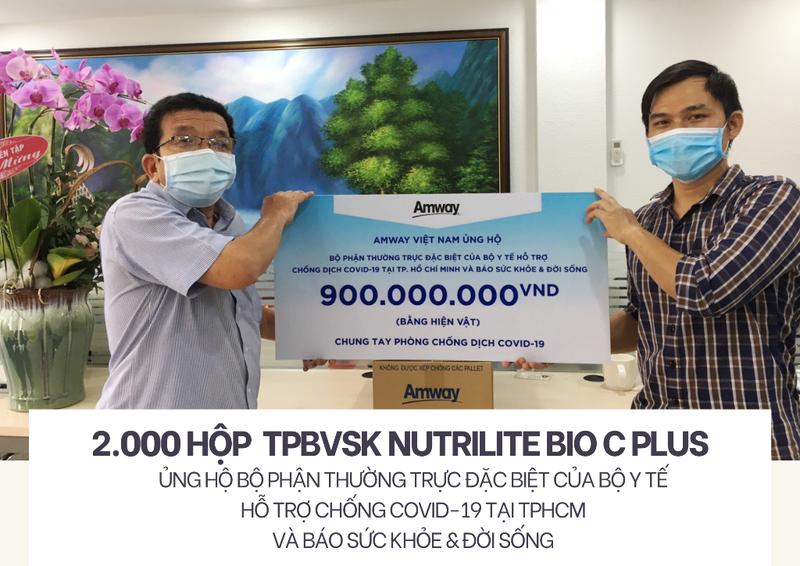 Amway khẩn cấp ủng hộ sản phẩm sức khỏe đến tuyến đầu chống dịch TP.HCM - ảnh 1