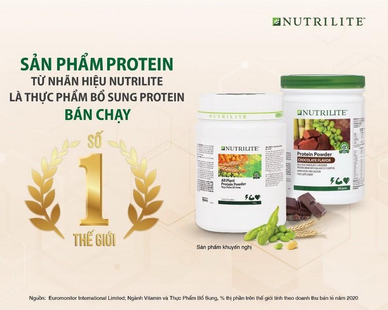 Dòng sản phẩm Nutrilite Protein đạt danh hiệu bán chạy số một thế giới - ảnh 1