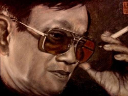 Chân dung nhạc sĩ Hồng Đăng - tranh sơn dầu của Đinh Quang Tính