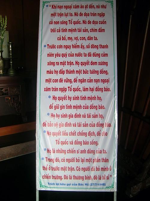 Chùm ảnh Văn bia tại Đền Tưởng niệm Ngã Ba Giồng (2) - ảnh 2