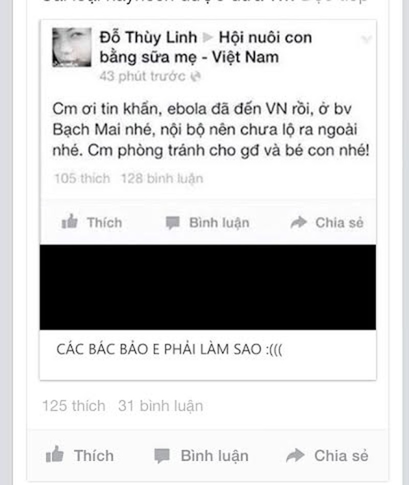 Cục An ninh điều tra đối tượng tung tin dịch Ebola xuất hiện tại Hà Nội