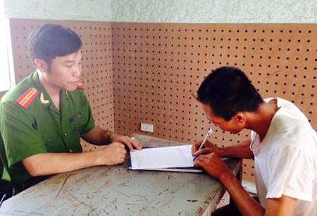 Đoàn Văn Phan tại cơ quan điều tra.