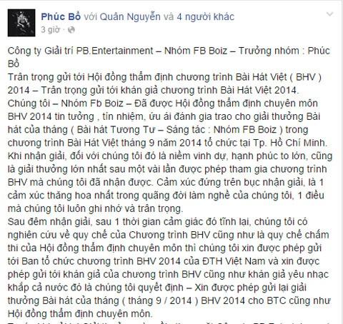 Bài hát Việt, FB Boiz