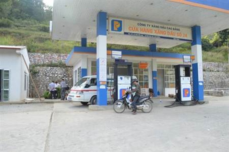 Cửa hàng xăng dầu nơi xảy ra vụ việc.