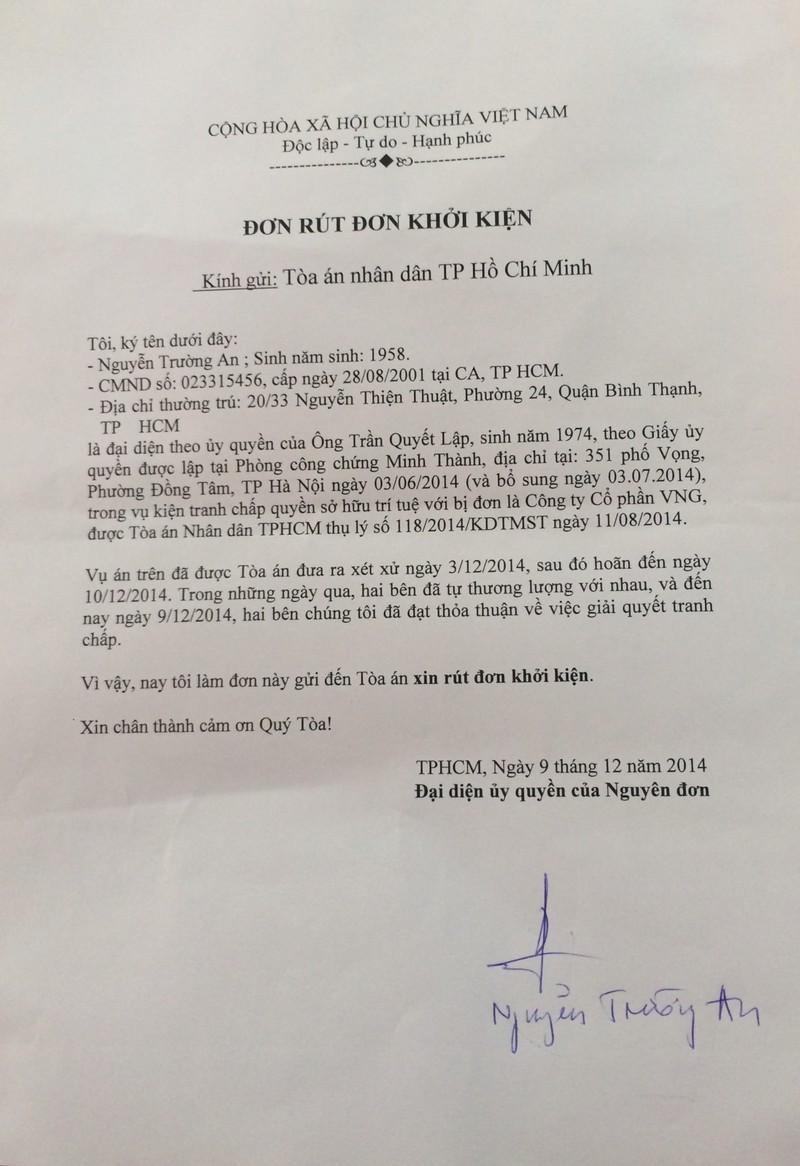 Nhạc sĩ Trần Lập rút đơn kiện ZingMP3 đòi nhuận bút - ảnh 1