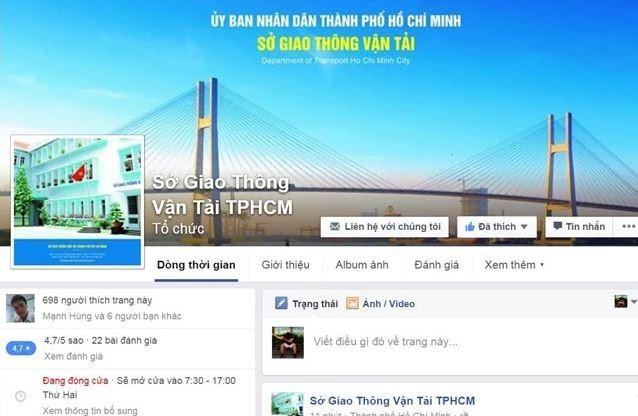 Sau số điện thoại nóng của ông Đinh La Thăng, Sở GTVT có Facebook - ảnh 1
