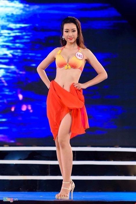Mỹ Linh đã 3 lần dự thi. Cô từng lọt top 15 cuộc thi Hoa hậu Hoàn vũ Việt Nam 2015