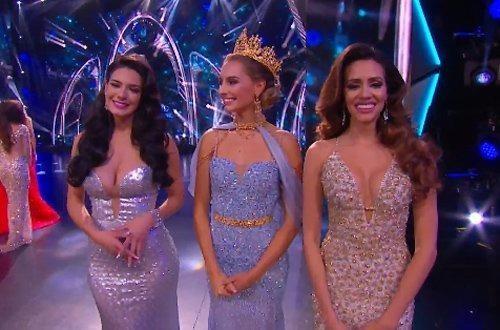 Á hậu 1 là người đẹp Philippines, á hậu 2 là người đẹp Thái Lan, á hậu 3 là Puerto Rico và á hậu 4 là người đẹp Mỹ. Ảnh: VIETNAMNET