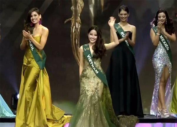 Nam Em lọt vào Tốp 8 cùng thí sinh các nước: Venezuela, Nga, Thụy Điển, Mỹ, Brazil, Colombia và Ecuador.