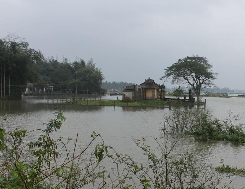 Nhiều khu dân cư xã Nghĩa Thương, huyện Tư Nghĩa bị cô lập chia cắt