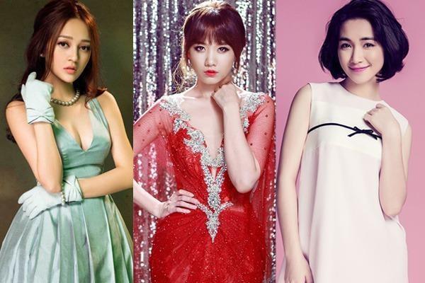 Từ trái qua: Bảo Anh, Hari Won, Hòa Minzy cùng tranh giải