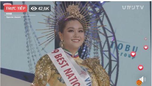 Tường San đoạt giải Quốc phục đẹp nhất Hoa hậu Quốc tế 2019 - ảnh 3