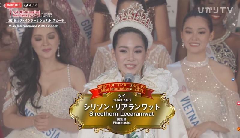 Người đẹp Thái Lan đăng quang Hoa hậu Quốc tế 2019 - ảnh 4