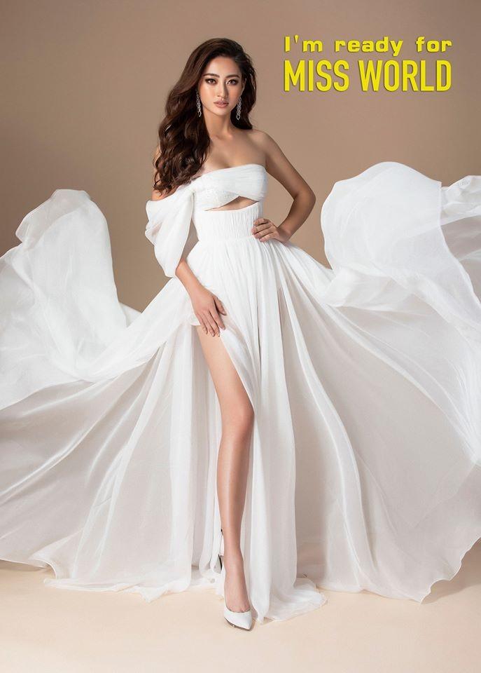 Chùm ảnh Lương Thùy Linh trước khi sang Anh thi Miss World - ảnh 1