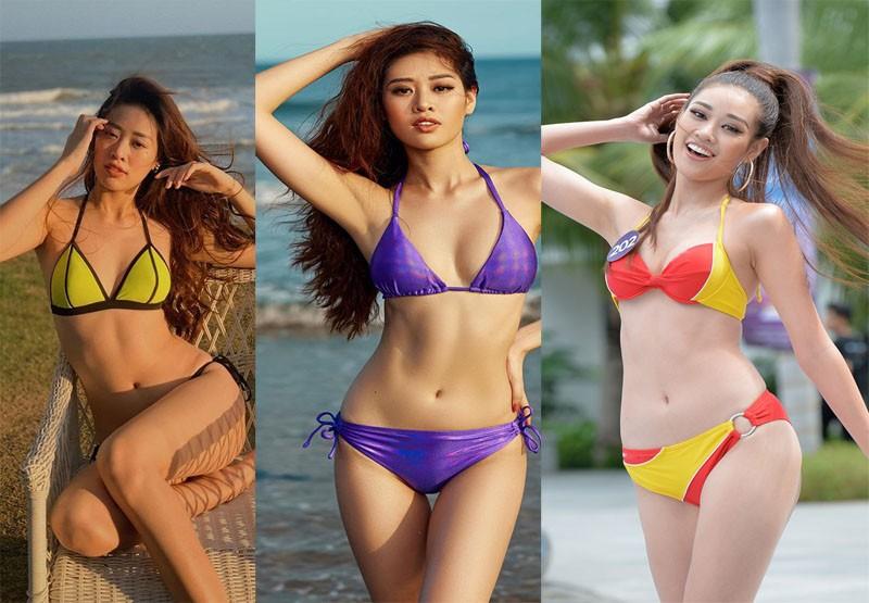 Tân Hoa hậu Hoàn vũ Khánh Vân nóng bỏng với bikini - ảnh 2