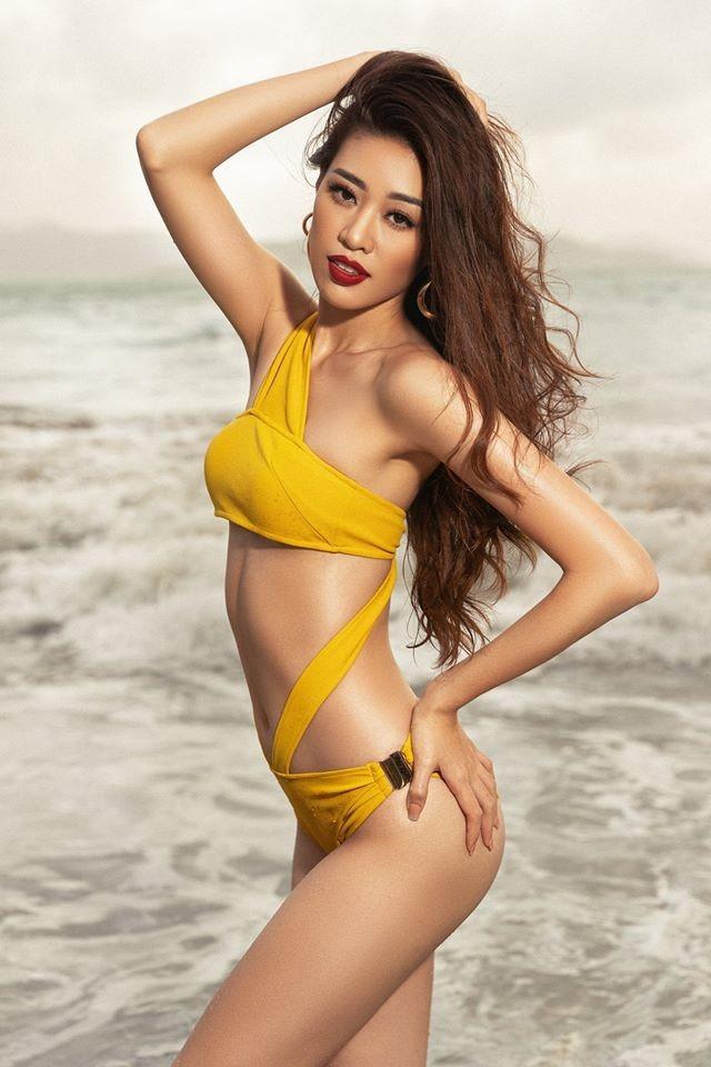 Tân Hoa hậu Hoàn vũ Khánh Vân nóng bỏng với bikini - ảnh 6