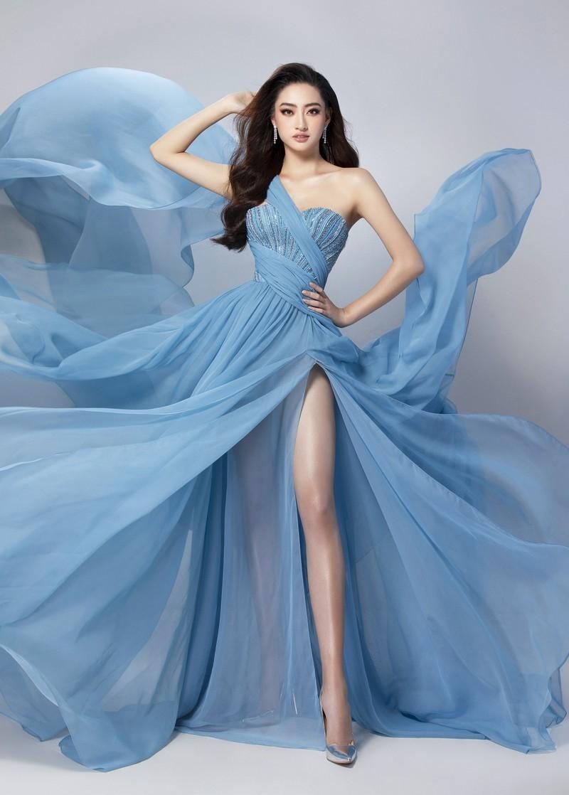 Chiếc đầm Lương Thùy Linh sẽ mặc trong phần thi Top Model - ảnh 1
