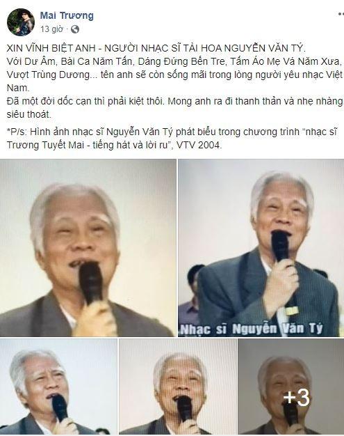 Cộng đồng mạng tiếc nuối sự ra đi của nhạc sĩ Nguyễn Văn Tý - ảnh 2