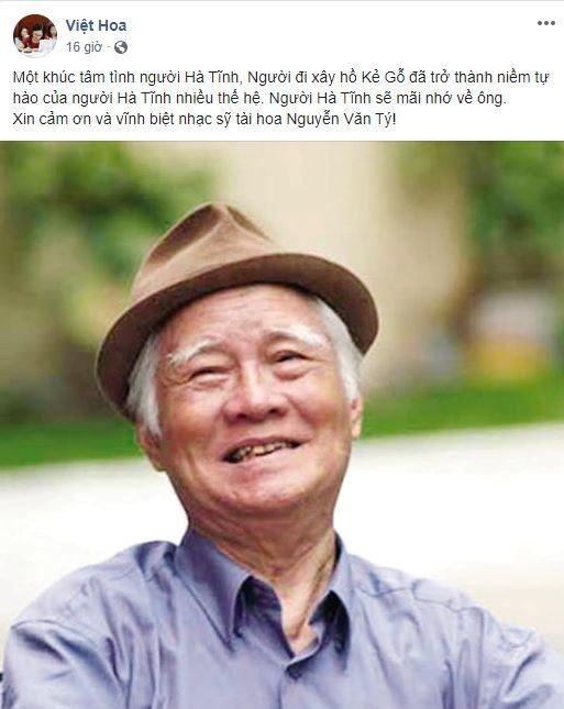 Cộng đồng mạng tiếc nuối sự ra đi của nhạc sĩ Nguyễn Văn Tý - ảnh 9