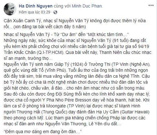 Nhạc sĩ Nguyễn Văn Tý tuổi Tý hay tuổi Sửu - ảnh 10