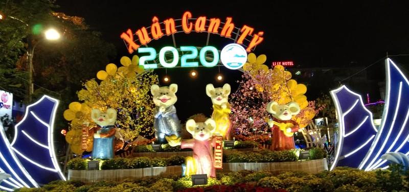 Gia đình Chuột vui nhộn ở đường hoa thành phố Cam Ranh - ảnh 6