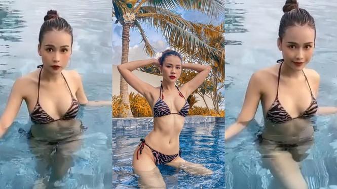 Hot girl Sam hiếm hoi diện bikini khoe dáng gợi cảm - ảnh 8