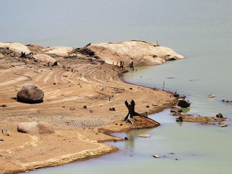 Ngỡ ngàng 'công viên cát' dưới lòng hồ Suối Dầu ở Khánh Hòa - ảnh 7