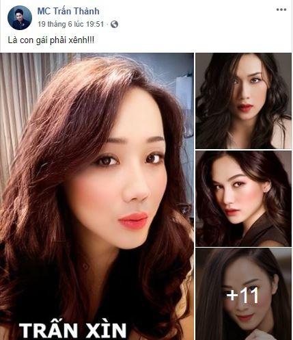 Trấn Thành dùng 'app chuyển giới' sao Việt vui nhộn - ảnh 1