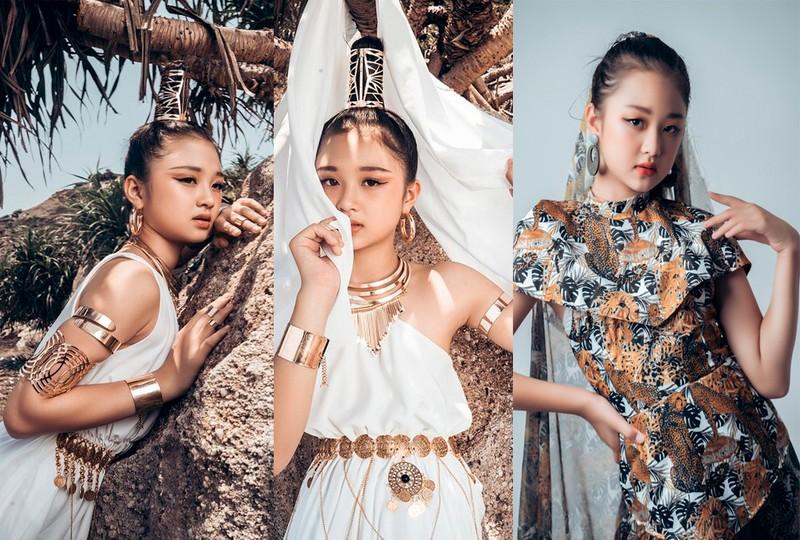 Mẫu nhí 11 tuổi Kim Chi catwalk chuyên nghiệp, ấn tượng - ảnh 9