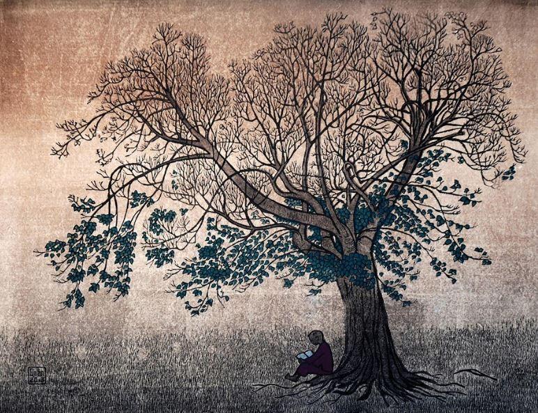 Thế giới nghệ thuật đồ họa qua tranh của họa sĩ Trần Văn Quân - ảnh 1