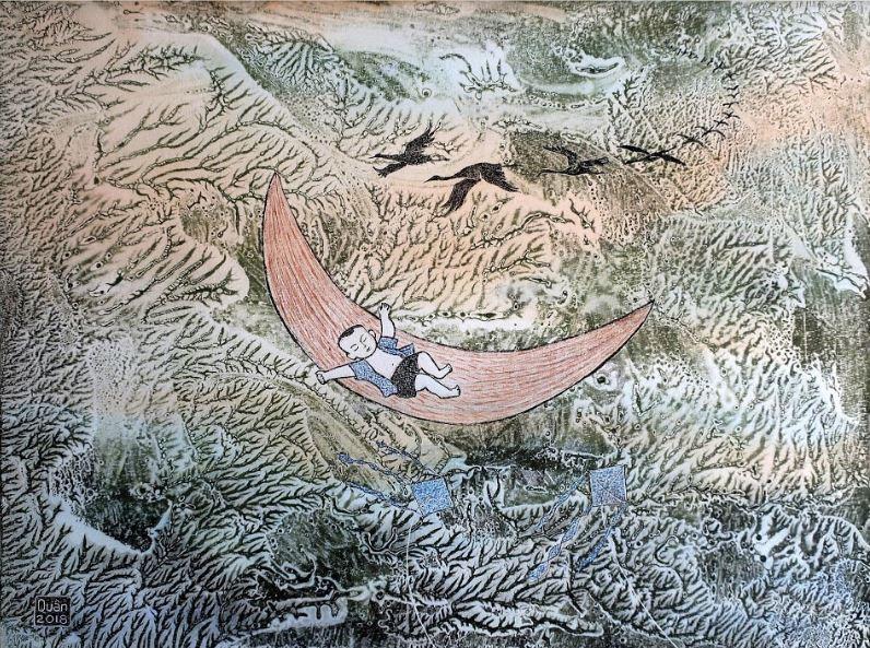 Thế giới nghệ thuật đồ họa qua tranh của họa sĩ Trần Văn Quân - ảnh 3