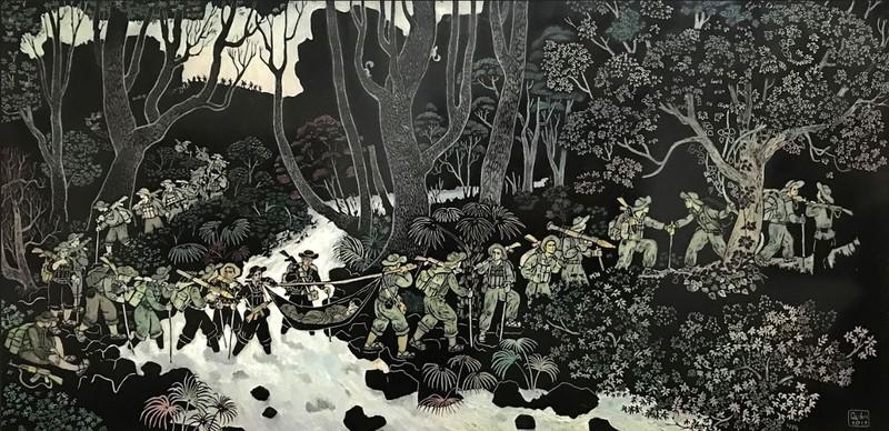 Thế giới nghệ thuật đồ họa qua tranh của họa sĩ Trần Văn Quân - ảnh 4