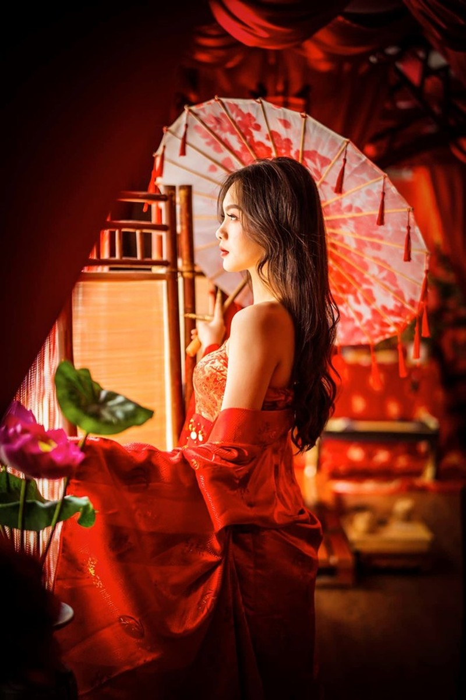 Đan Phượng - nữ sinh đại học Sân khấu Điện ảnh thi Hoa hậu - ảnh 7