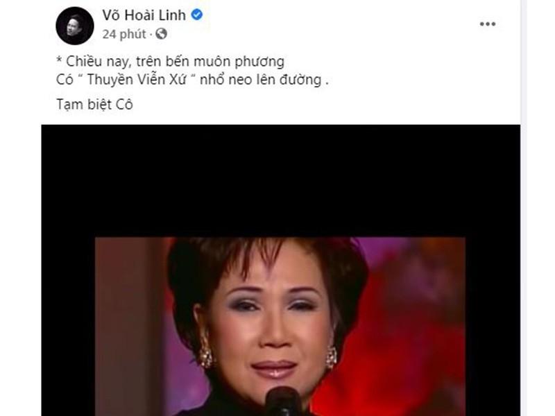 Hoài Linh và sao Việt tiếc thương danh ca Lệ Thu - ảnh 2