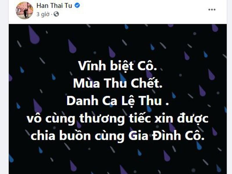 Hoài Linh và sao Việt tiếc thương danh ca Lệ Thu - ảnh 9