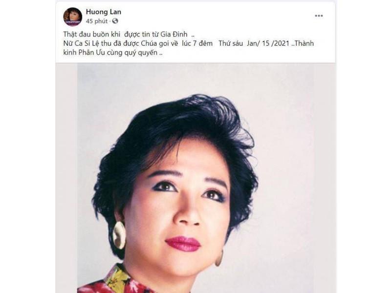 Hoài Linh và sao Việt tiếc thương danh ca Lệ Thu - ảnh 4