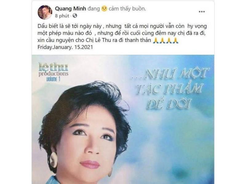 Hoài Linh và sao Việt tiếc thương danh ca Lệ Thu - ảnh 7