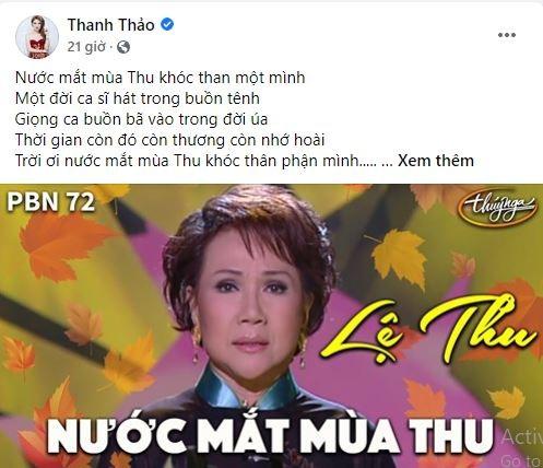 Hoài Linh và sao Việt tiếc thương danh ca Lệ Thu - ảnh 5