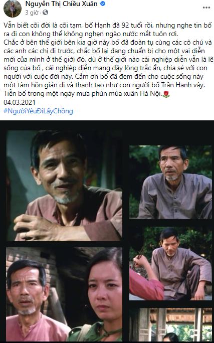 Chiều Xuân, Vân Dung, Mai Thu Huyền tưởng nhớ NSND Trần Hạnh  - ảnh 2