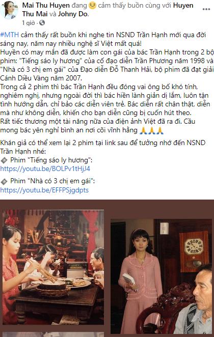 Chiều Xuân, Vân Dung, Mai Thu Huyền tưởng nhớ NSND Trần Hạnh  - ảnh 8